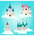 Collection of cartoon fairytale castle vector image vector image