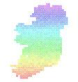 colored ireland island map vector image vector image