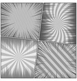 comic book page monochrome backgrounds set vector image vector image