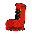 comic cartoon old work boot vector image vector image