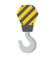 crane hook flat icon build and repair vector image