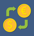Currency exchange Dollar and Euro vector image vector image