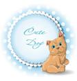 cute dog french bulldog vector image vector image