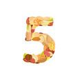 delicious number made from different nuts five vector image