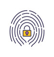 fingerprint access security data protection vector image vector image
