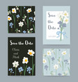 floral greeting cards set vector image vector image