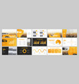 geometric graphic design project proposal vector image vector image