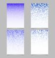 geometrical pattern flyer design - tiled mosaic vector image vector image