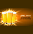 glass of beer isolated on white background vector image vector image