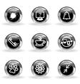 Glossy icon set 26 vector image