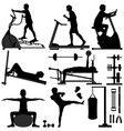 gym gymnasium workout exercise man man working vector image