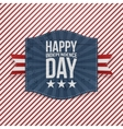 Happy Independence Day paper Emblem vector image vector image