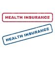 Health Insurance Rubber Stamps vector image vector image