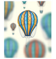 hot air balloons travel around the world vector image vector image