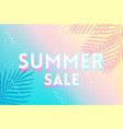 hot summer sale banner trendy texture season vector image vector image