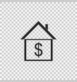 house with dollar home and money real estate vector image vector image
