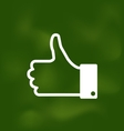 Icon of Thumb Up on School Board vector image vector image