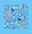 inspired spanish corrida vector image vector image