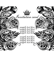 Invitation card in tattoo style vector image vector image
