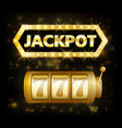 jackpot casino lotto label background sign casino vector image vector image