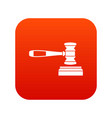 judge gavel icon digital red vector image vector image