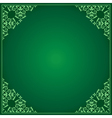 light and dark green background with ornament vector image