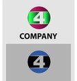 Logo number 4 design template vector image vector image