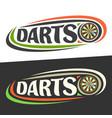 logos for darts vector image vector image