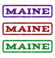 maine watermark stamp vector image