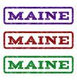 Maine watermark stamp vector image