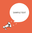 megaphone with text vector image