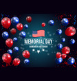 memorial day in usa background template vector image vector image