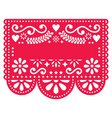 mexican papel picado template design vector image vector image