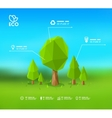 Modern infographic design with lowpoly tree Eps 10 vector image vector image