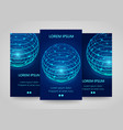 modern network vertical banners global sphere vector image vector image