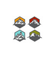 mountain collection vector image vector image