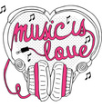 Music is love vector image vector image