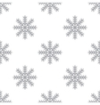 New Snowflake seamless pattern vector image vector image