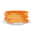 pancakes on plate vector image