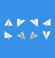paper plane flat icon set vector image