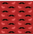 Pattern with mustaches and lips vector image vector image