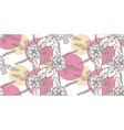 seamless floral hand drawn pattern sketched vector image vector image