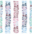 seamless pattern with herbs foliage plants vector image