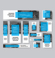 set of banners of all sizes with a rectangular vector image vector image