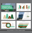 set of green and brown elements for multipurpose vector image