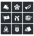 Set of Soviet organization Pioneer Icons vector image
