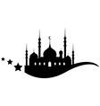 Silhouette of Ramadan Kareem background vector image