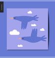 simple things - flying birds vector image