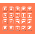 Square buttons with icons for interface