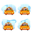 taxi ordering flat set vector image vector image
